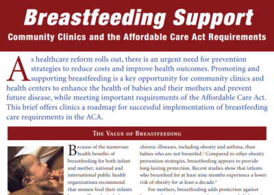 Breastfeeding Support: Community Clinics and the Affordable Care Act Requirement