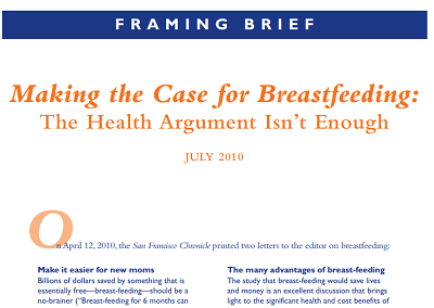 Making the Case for Breastfeeding: The Health Argument Isn't Enough