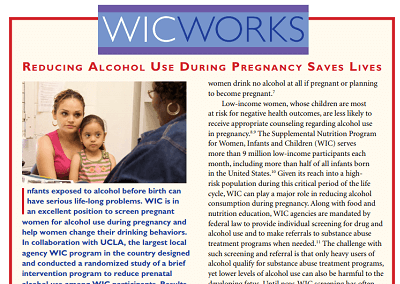 WIC WORKS: Reducing Alcohol Use During Pregnancy Saves Lives