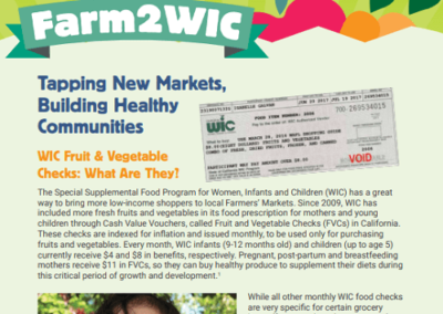 Farm2WIC: Tapping New Markets, Building Healthy Communities
