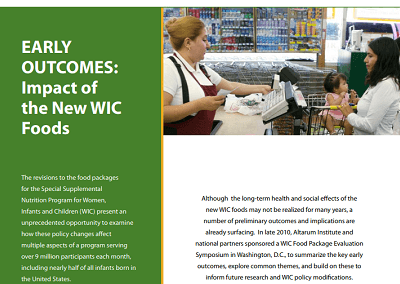 Early Outcomes: Impact of the New WIC Foods