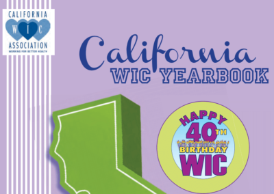 California WIC 40th Anniversary Yearbook