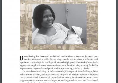 Increasing Breastfeeding in the Low-Wage Worksite